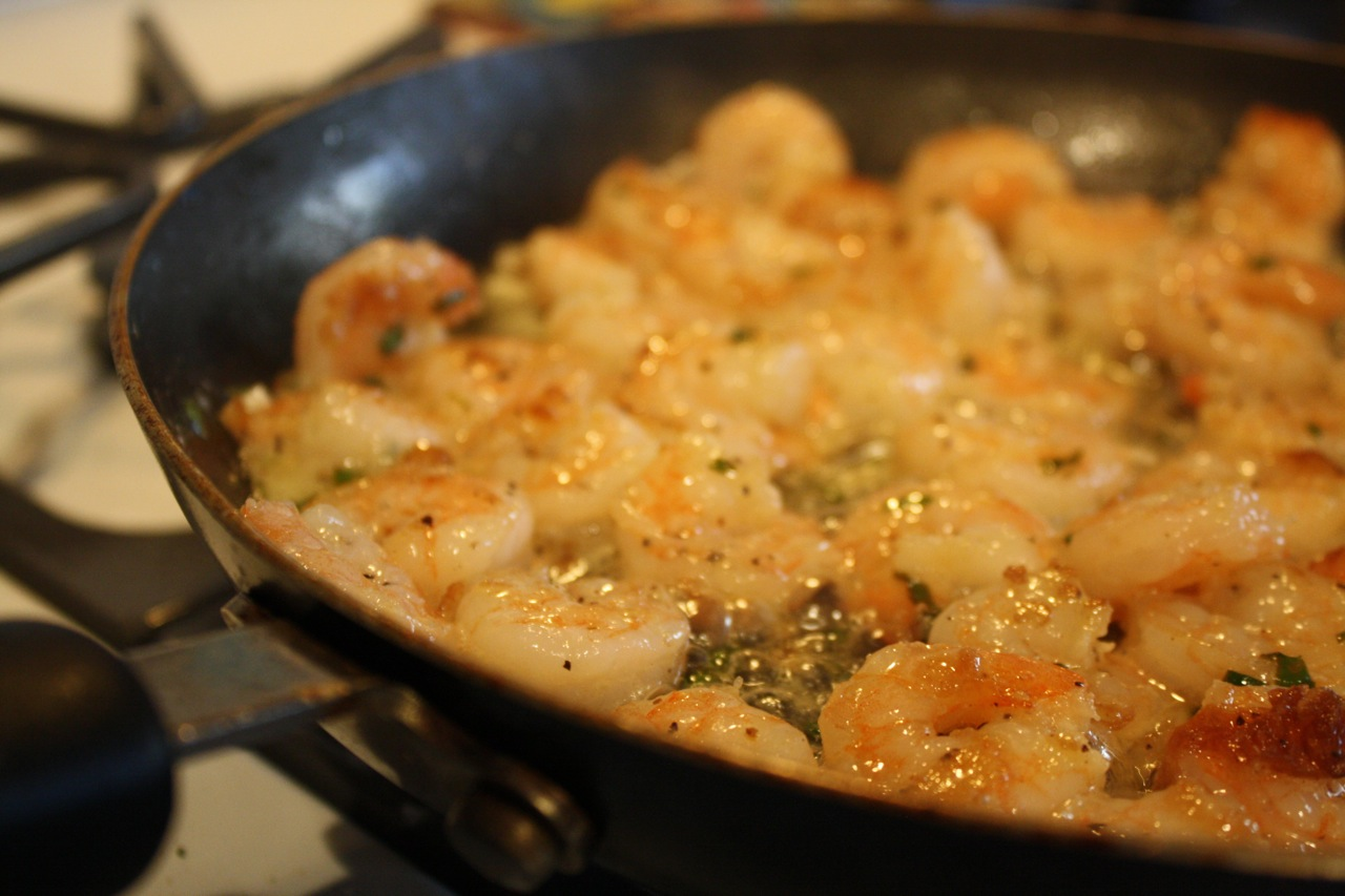 Whats for dinner: Garlic-lime pan seared shrimp with quinoa, corn on ...