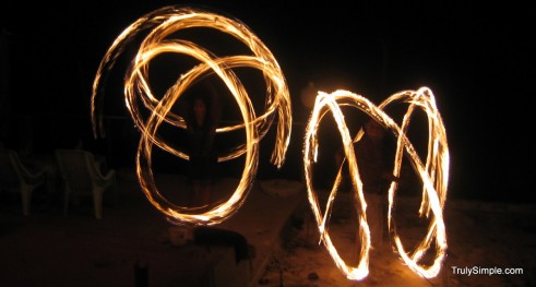 fire dancers